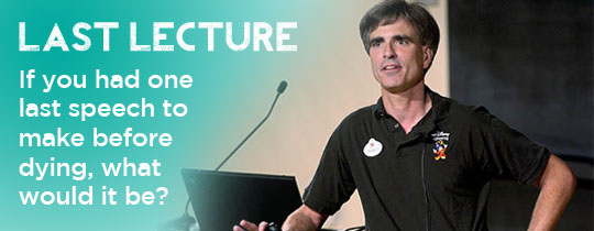 the last lecture randy pausch essay It was the power of the internet that propelled computer science professor randy pausch to fame around the world after his inspiring last lecture and helped launch his bestselling book so it seems a fitting tribute to document the many links, videos and other items that make up his online legacy a.